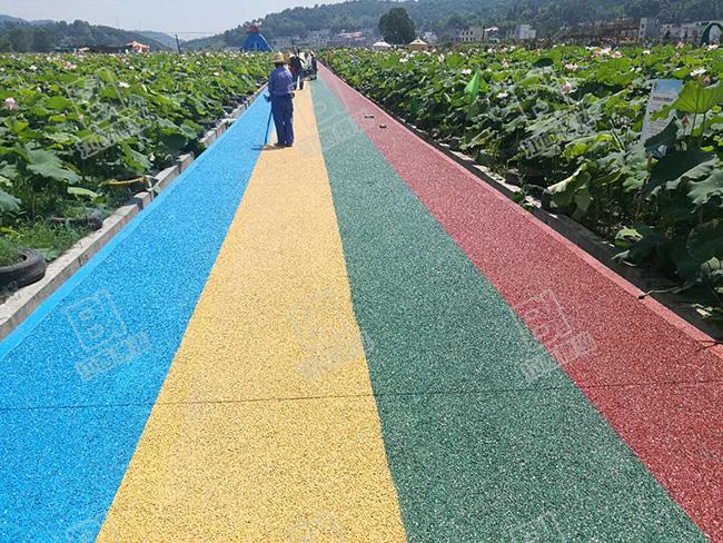 彩色透水砼游步道